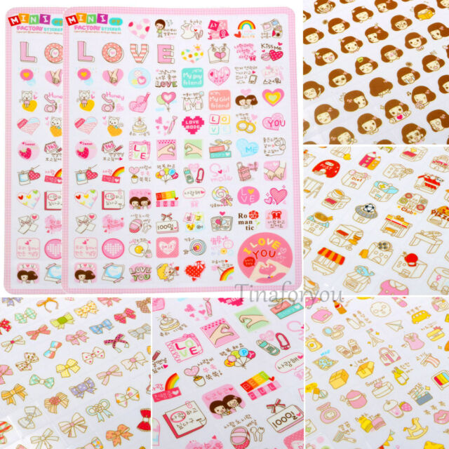 Creative Decor Stickers Korea Stationery Girls Bow-knot Planner Diary Notebook