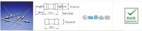 20Pcs 3.6 mm x 10 mm Lent Blow Axial céramique fusibles 250 V 2.5 A