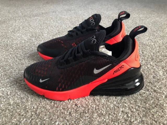 Nike Air Max 270 Gs Black White Kids Women Running Shoes Sneakers 943345 001 4 Y For Sale Online Ebay