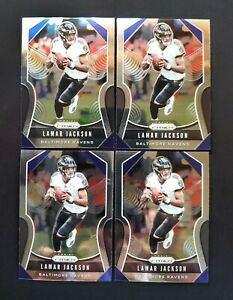 2019-Panini-Prizm-LAMAR-JACKSON-Lot-of-4-71-Ravens-ALL-CENTERED