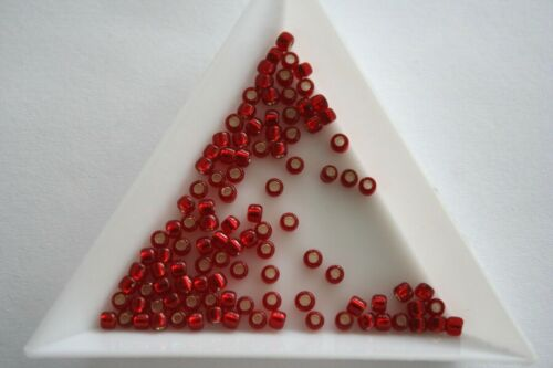 #4181 Size 8 3mm Silver Lined Ruby Toho Seed Beads 300 beads approx