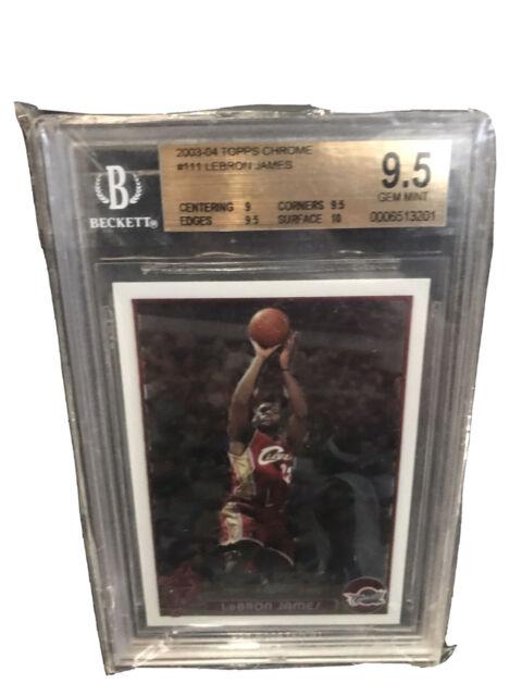 2003 - 2004 Topps Chrome LeBron James Cleveland Cavaliers #111 Basketball Card