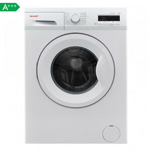 SHARP FB7143W3A Waschmaschine, 7 KG, A+++, 1400 U/Min., Frontlader, KURZPROGRAMM