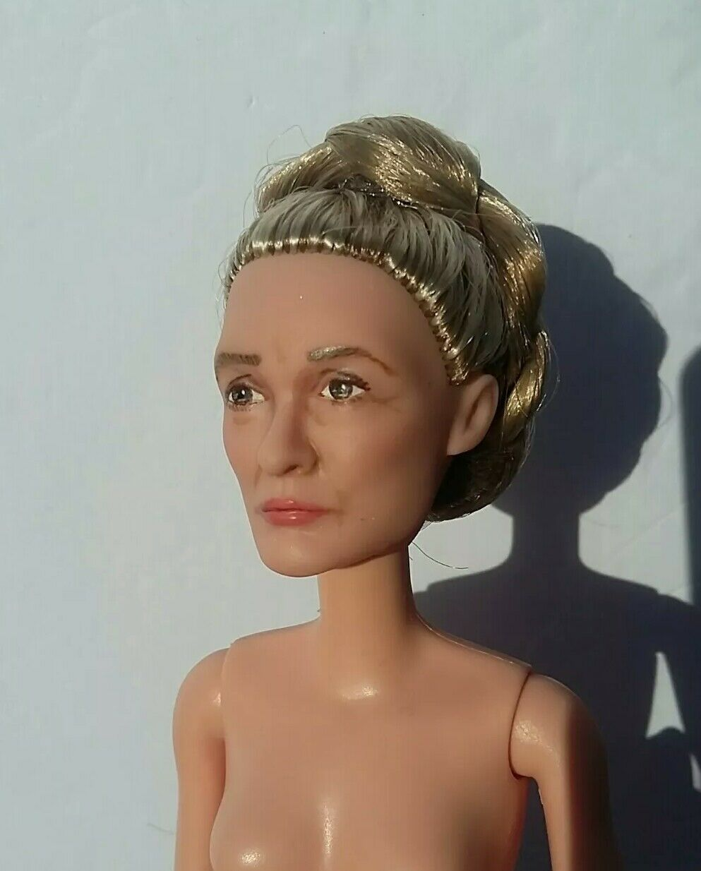 OOAK general Leia Star Wars Force despierta repintado Carrie Fisher Muñeca Barbie