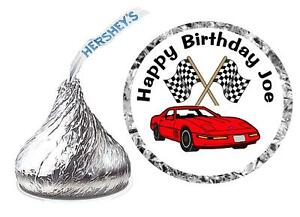 Image Is Loading 216 Race Car Birthday Party Favors Hershey Kiss