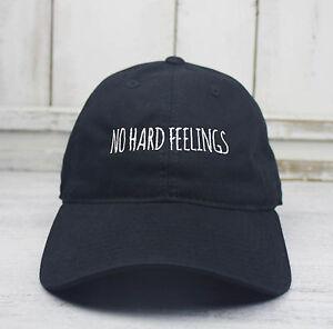b7838e3ebc43f NO HARD FEELINGS Dad Hat Lit Embroidered Baseball Cap Curved Bill ...