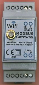Modbus TCP/IP zu Modbus RTU Gateway Bridge WIFI WLAN RS485 IOBroker Loxone