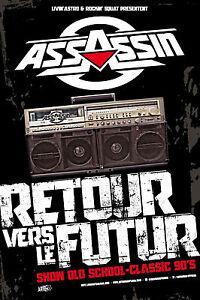 """ASSASSIN - Affiche Poster 80X120 - Tournée 2015 """"Retour vers le futur"""" - Rap - France - Thme: Musique Dimensions: 80 x 120 cm Epoque: Contemporaine (Aprs 1980) Impression: Couleur - France"""