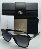 Versace Sunglasses Ve 4290-b Gb1/8g 57-16 Black & Gold Frame W/grey Gradient