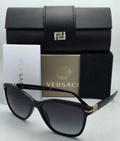 Versace Sunglasses Ve 4290-b Gb1/8g 57-16 Black & Gold Frame W/grey Gradient