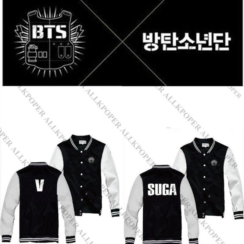 KPOP BTS Baseball Jumper Uniform Bangtan Boys In Bloom Varsity Jacket Coat