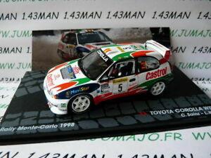 RIT23M-voiture-1-43-IXO-Altaya-Rallye-ITALIE-TOYOTA-Corolla-WRC-C-Sainz-M-Carlo