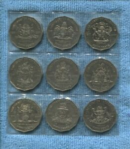 2001-Centenary-Of-Federation-States-50-Cent-coin-Set-Of-9