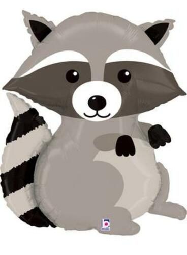 "/""RACCOON/"" WOODLAND CRITTERS 36/"" FOIL BALLOON RANGE OF 5 ANIMALS FOREST WILDLIFE"