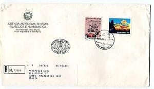 Diligent 1996 Fdc San Marino Festivalbar 100° Gazzetta Sport Raccomandata First Day Cover