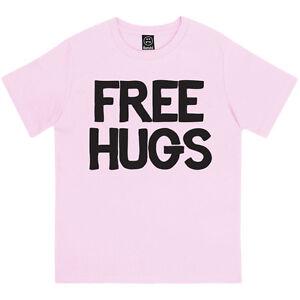 FREE HUGS RETRO CLASSIC SLOGAN MENS PRINTED T-SHIRT ALL COLOURS /& SIZES