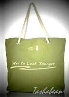 Wei East Green Canvas Tote Rope Handles & Sealed