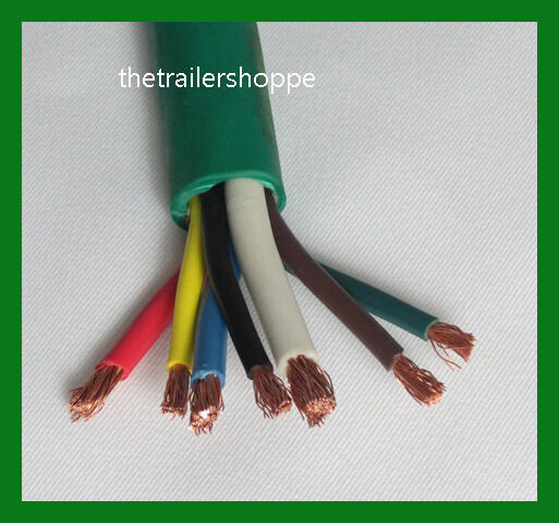 trailer light cable wiring harness 7 wire jacketed green flexible Modular Trailer Wiring Harness trailer light cable wiring harness 7 wire jacketed green flexible heavy duty abs