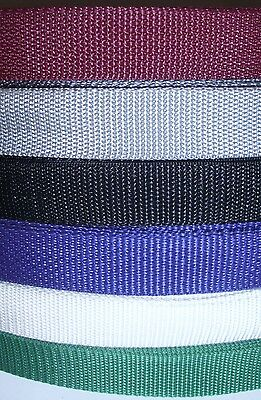 """2 yards of 1"""" Polypropylene Webbing Strapping - Sold by continuous 2 yds"""