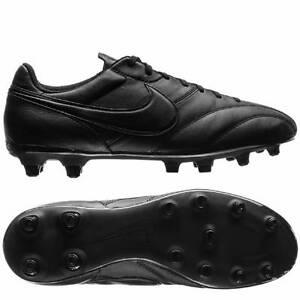 nike premier firm ground fg football boots black black black
