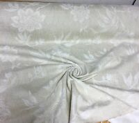 BEAUTIFUL CREAM SOFT CHENILLE CURTAIN UPHOLSTERY FABRIC 2 METRES