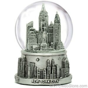 New-York-City-Snow-Globe-Silver-NYC-Snow-Globes-at-3-5-Inches-Tall-for-NY-Gift