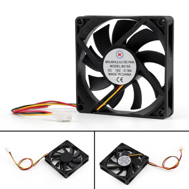 1Pcs DC Brushless Cooling PC Computer Ventilador 12V 0.16A 8015s 80x80x15mm ES