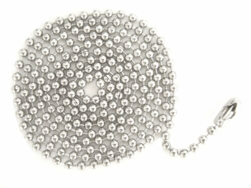 """Wholesale Lot 1000 Boule Chaîne Collier 2.4 mm 24/"""" ou 30/"""" Nickel Free Ship"""