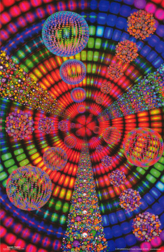 #226  RAP17 A FRACTAL CIRCUS POSTER PSYCHEDELIC FREE SHIPPING