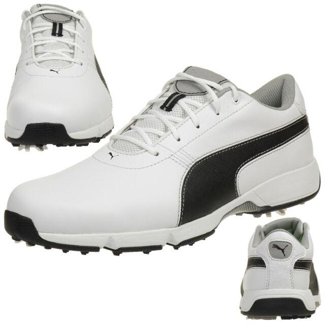 super popular 6d08f 9ce76 Puma Ignite Drive Men s Golf Shoese Golf Leather 189166 04 White