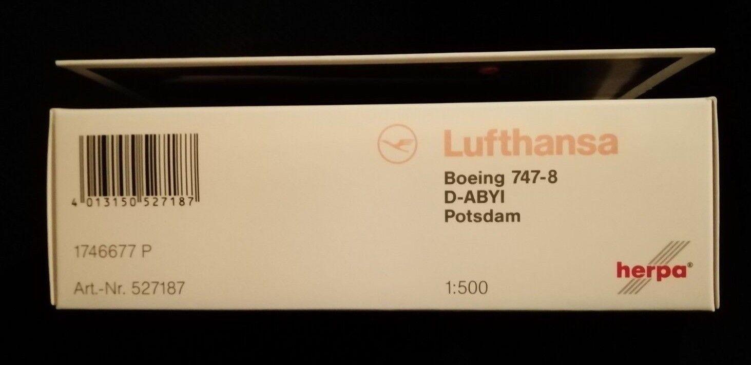 527187  Lufthansa Boeing 747-8 Intercontinental Siegerflieger Herpa Wings 1 500  | Zuverlässige Qualität