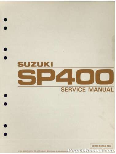 1980 Suzuki SP400 DR400 GN400 Motorcycle Service Manual