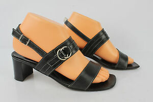 high-heel-sandals-SALAMANDER-France-All-Leather-Black-T-37-VERY-GOOD-CONDITION