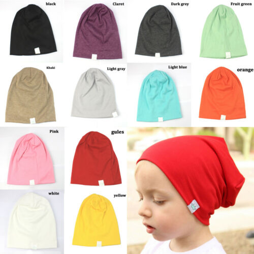 Toddler Newborn Stretch Hat Kids Baby Boy Girl Infants Cotton Soft Warm Hat Cap