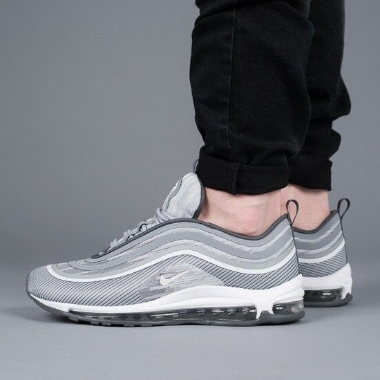 Nike Air Max 97 UL '17 Wolf Grey White Size 8 Eur 42.5 918356-007
