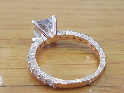 1.5 Ctw Princess Cut Diamond Solitaire Engagement Ring in White Gold Finish 3
