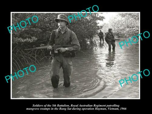 OLD 6 X 4 HISTORIC PHOTO OF AUSTRALIAN MILITARY, 5th BATTALION VIETNAM 1966