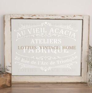 A4 stencil au vieil acacia fabric furniture vintage shabby chic 190 mylar ebay - Pochoir shabby chic ...