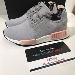 90bec3f107d1 ADIDAS NMD US UK 4 5 6 7 8 9 10 PINK GREY WOMENS R1 OFFICE BY3058 ...