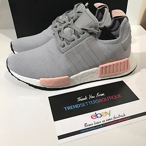 womens grey and pink adidas nmd