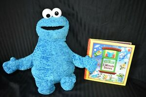 Sesame-Street-Cookie-Monster-20-034-Plush-with-Sesame-Street-3-Minute-Stories-Book
