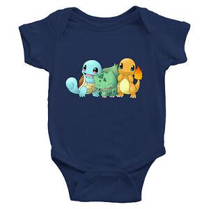 Infant-Baby-Boy-Girl-Rib-Bodysuit-Clothes-Print-Cute-Starter-Bulbasaur-Squirtle