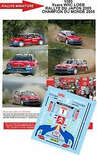 Decals 1/43 réf 1000  Xsara WRC LOEB   RALLYE DU JAPON 2005 CHAMPION DU MONDE 20