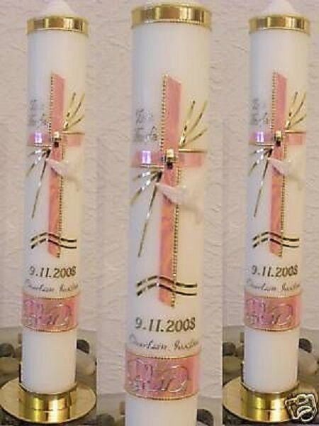 Personalised Girl/Boy Christening Communion Candle Gift