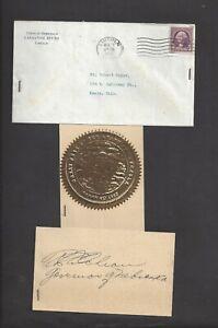 Nebraska Governor Robert Leroy Cochran 1938 Autograph Envelope State Seal