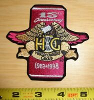 Genuine 15th Anniversary Hog Harley Owners Group Patch Softail Fxrt Flstc Xl