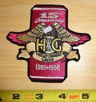 Genuine 15th Anniversary Hog Harley Owners Group Patch Softail Fxrt Flstc Xl
