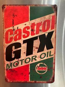 Retro Sign Motor Beer Spirits Garage Cave Bar Cafe Shed 30cm x 20cm CASTROL GTX