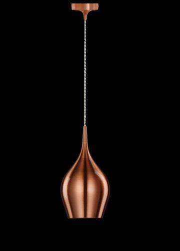 Design LED Lampe Pendelleuchte Metall Grün Gold Rot Kupfer Hängeleuchte Decken