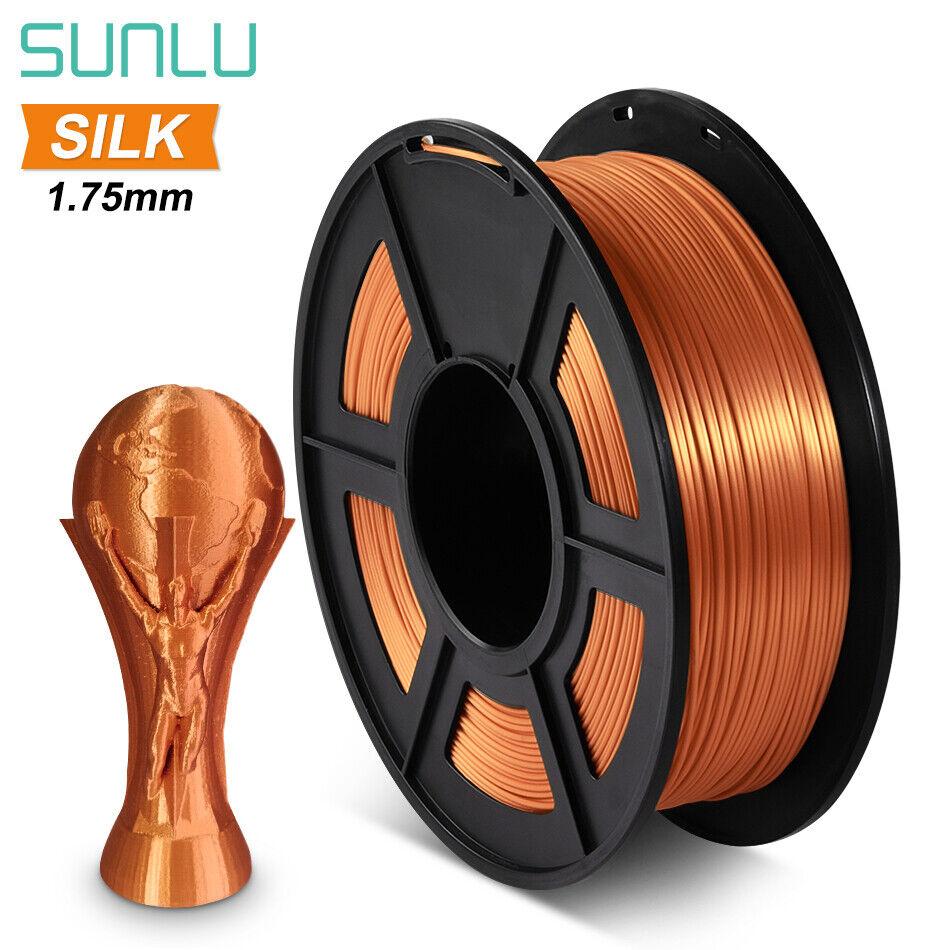 SUNLU SILK PLA+ Red copper 3D Printing Filament 1.75mm 1KG/2.2LB Spool Material